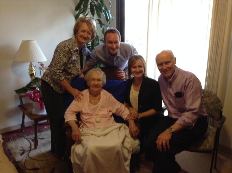 Grandma Smith with Helyers