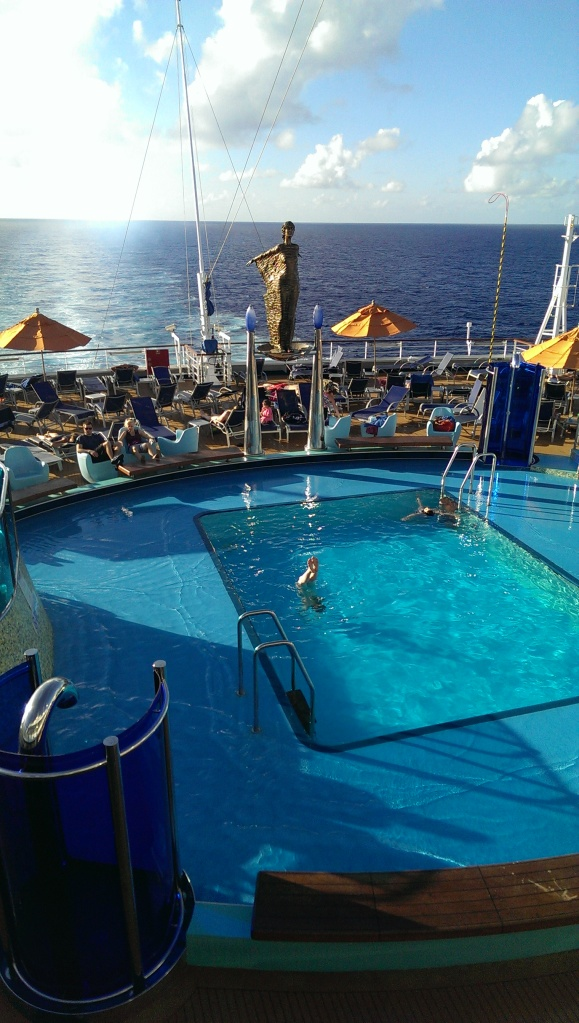 One of the pools aboard the ship.