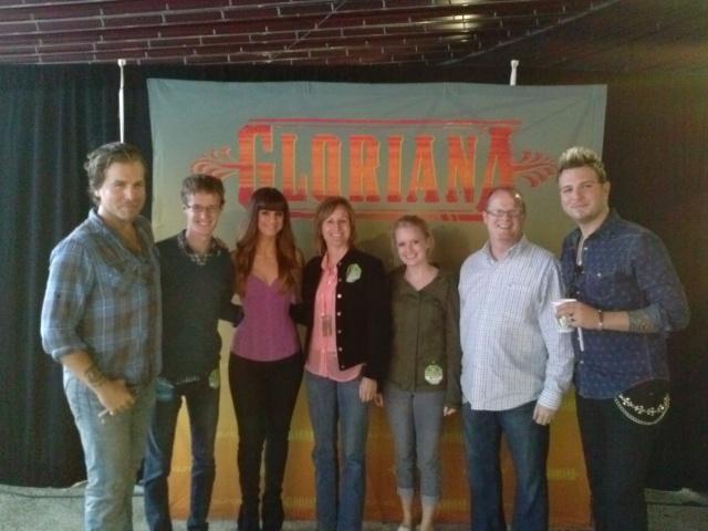 Meeting the band Gloriana at Jones Beach
