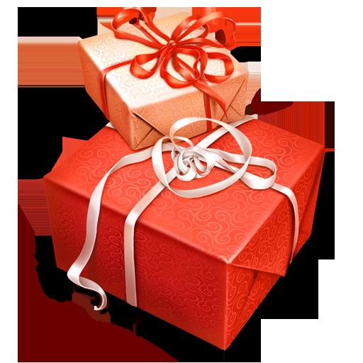 orange christmas present